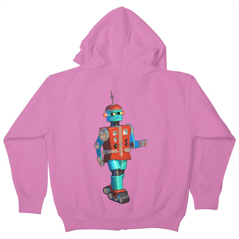 Robot Happiness Kids Zip-Up Hoody by richgrote's Shop