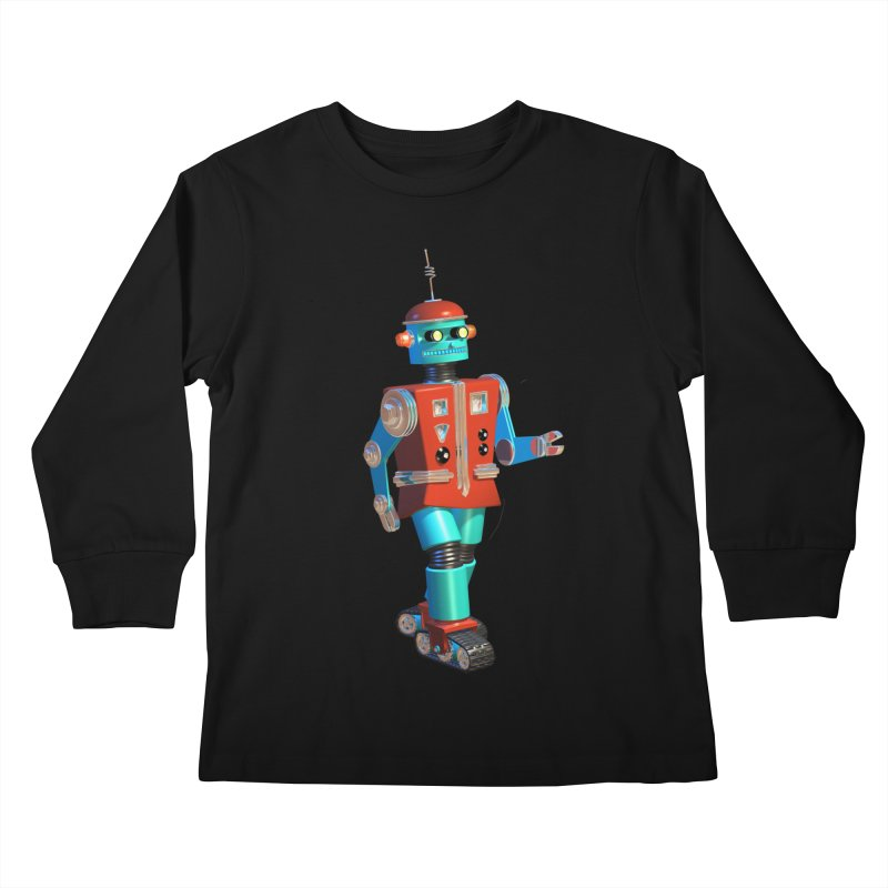 Robot Happiness Kids Longsleeve T-Shirt by richgrote's Shop
