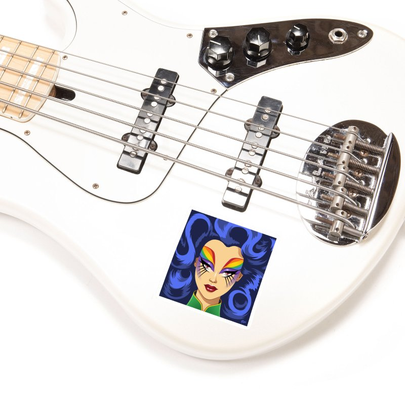 Iris Accessories Sticker by richierick's Artist Shop