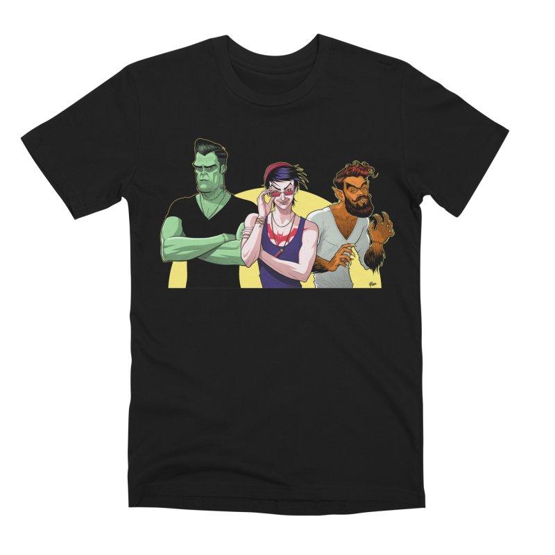 Halloween Hipsters Men's T-Shirt by richierick's Artist Shop