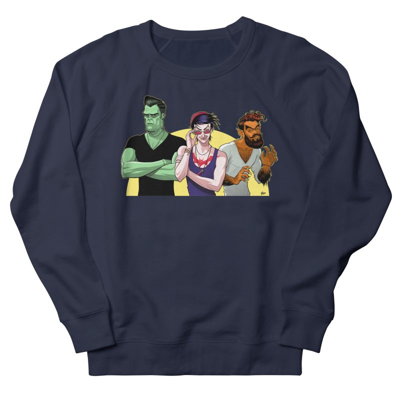 Halloween Hipsters Men's Sweatshirt by richierick's Artist Shop