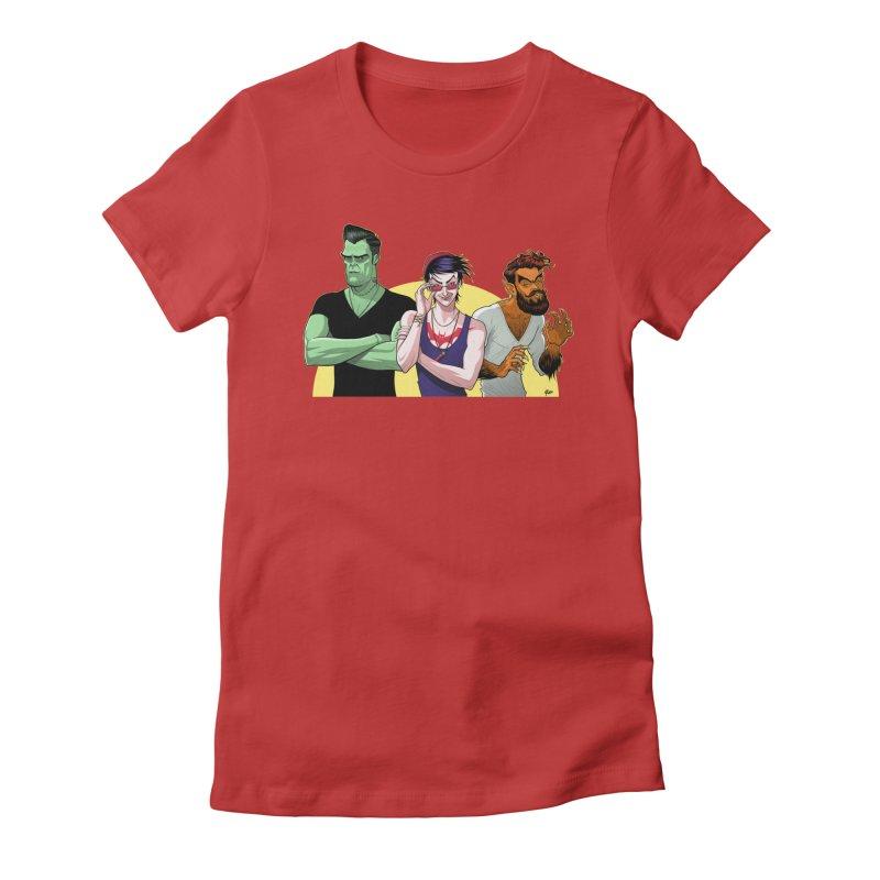 Halloween Hipsters Women's T-Shirt by richierick's Artist Shop