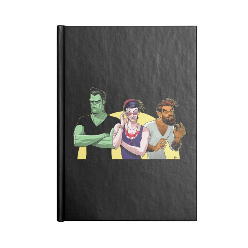 Halloween Hipsters Accessories Notebook by richierick's Artist Shop