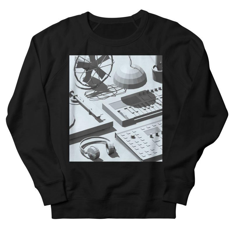 Low Poly Objects Grey Men's Sweatshirt by Rickard Arvius
