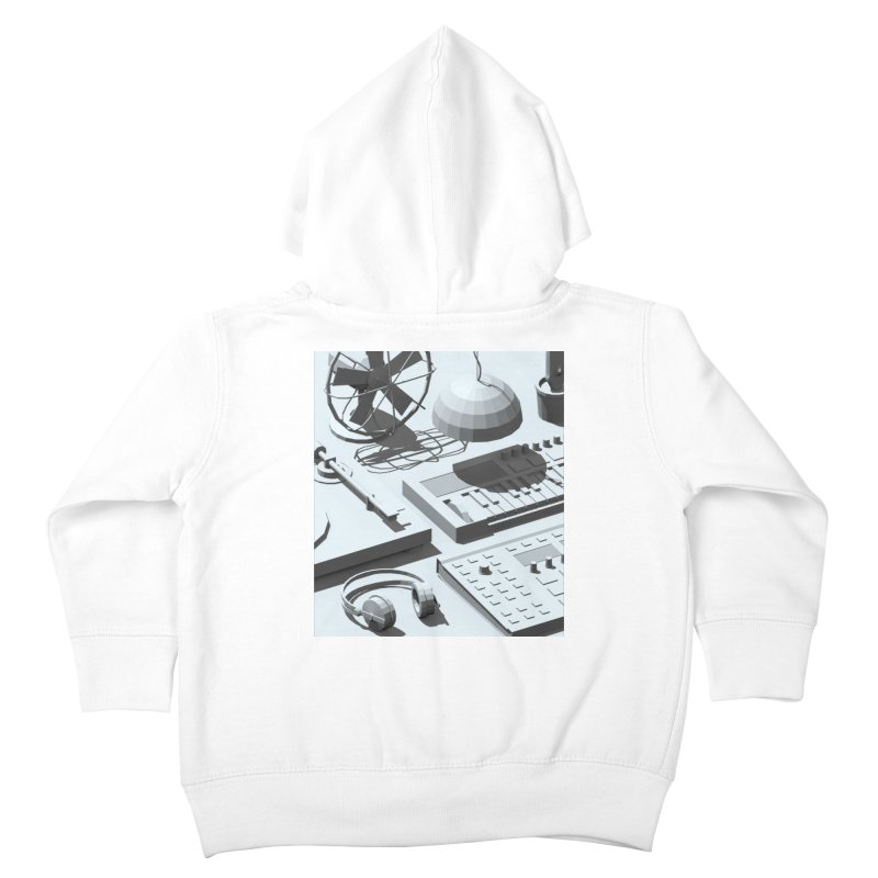 Low Poly Objects Grey Kids Toddler Zip-Up Hoody by Rickard Arvius