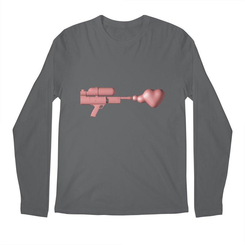 Bubble Gum Gun - Make Love Not War Men's Longsleeve T-Shirt by Rickard Arvius