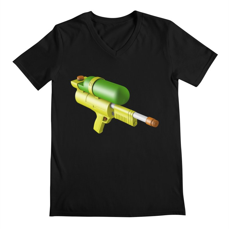 Water Gun Men's V-Neck by Rickard Arvius