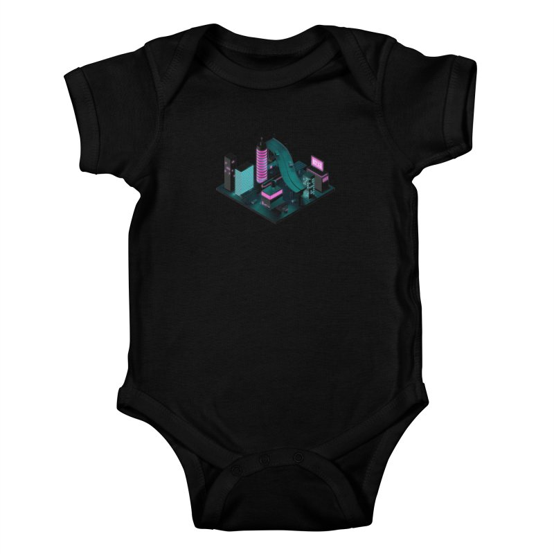 Nippon 2061 Kids Baby Bodysuit by Rickard Arvius