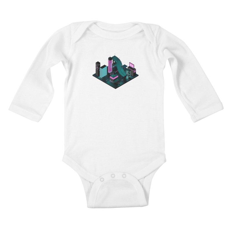 Nippon 2061 Kids Baby Longsleeve Bodysuit by Rickard Arvius