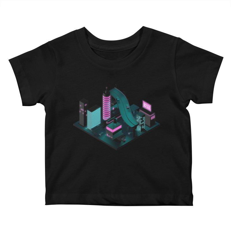 Nippon 2061 Kids Baby T-Shirt by Rickard Arvius