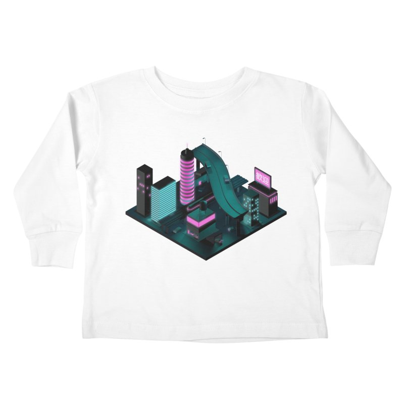 Nippon 2061 Kids Toddler Longsleeve T-Shirt by Rickard Arvius