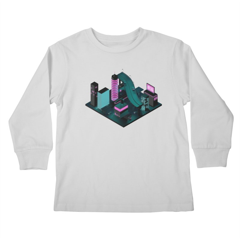 Nippon 2061 Kids Longsleeve T-Shirt by Rickard Arvius