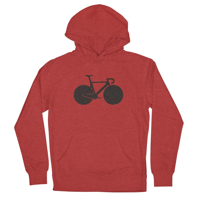 Track Bike Women's French Terry Pullover Hoody by Rickard Arvius