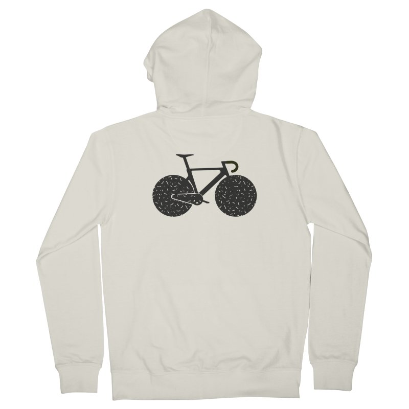 Track Bike Men's Zip-Up Hoody by Rickard Arvius