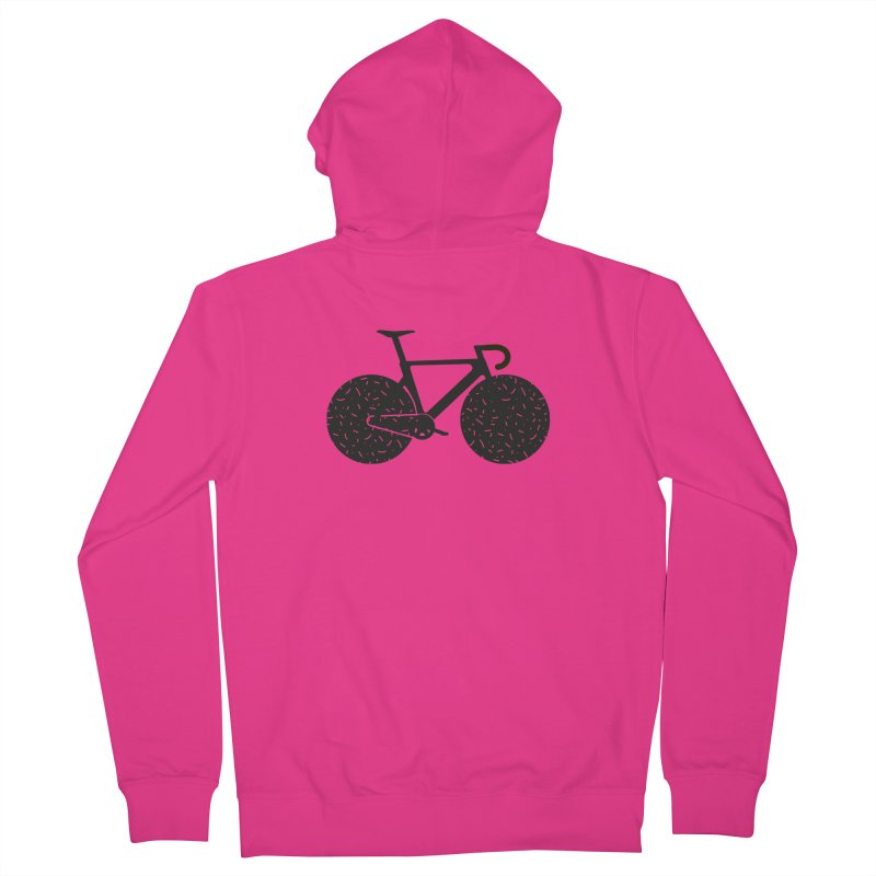 Track Bike Men's French Terry Zip-Up Hoody by Rickard Arvius