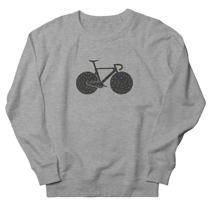 Track Bike Men's French Terry Sweatshirt by Rickard Arvius