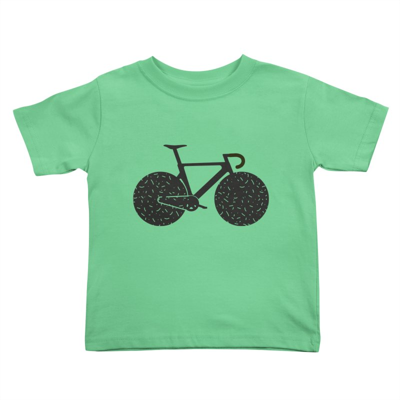 Track Bike Kids Toddler T-Shirt by Rickard Arvius