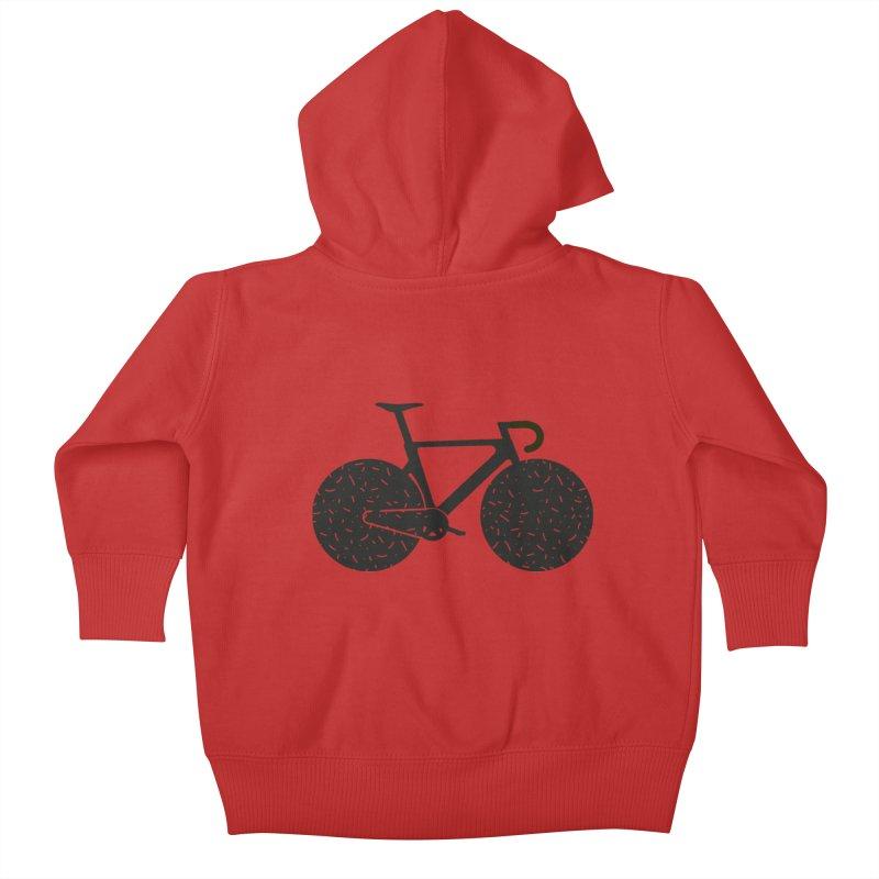 Track Bike Kids Baby Zip-Up Hoody by Rickard Arvius
