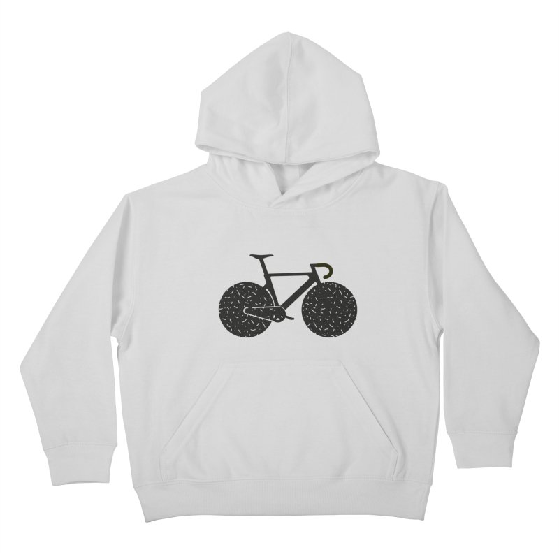 Track Bike Kids Pullover Hoody by Rickard Arvius