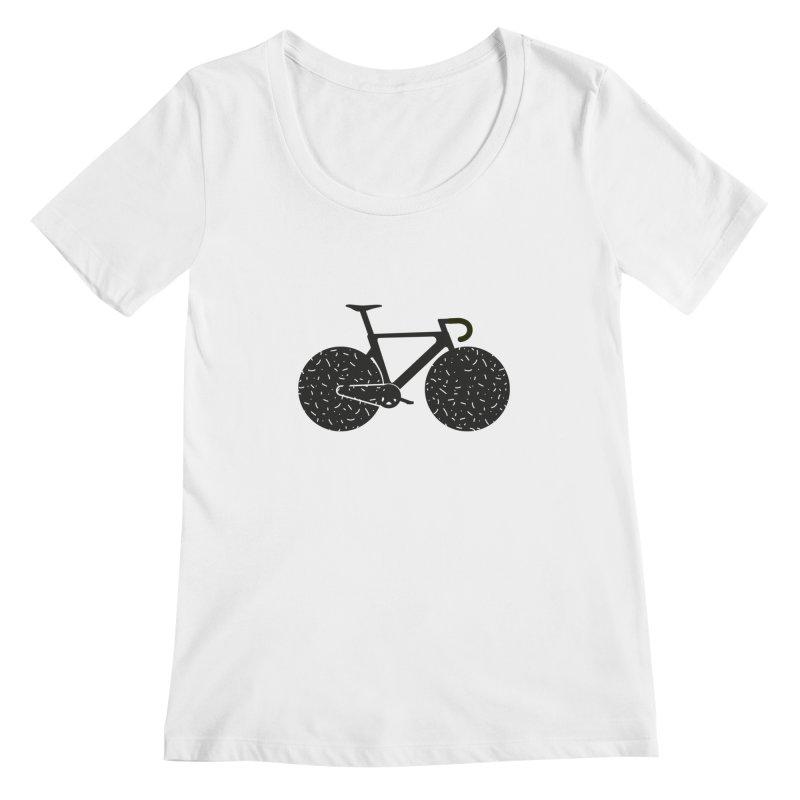 Track Bike Women's Scoopneck by Rickard Arvius