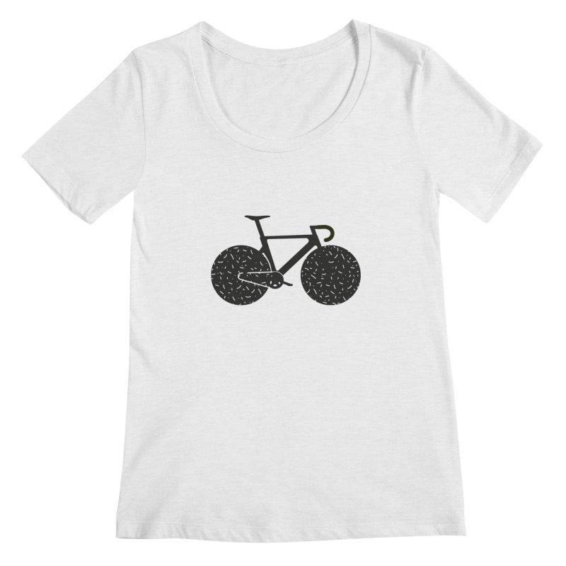 Track Bike Women's Regular Scoop Neck by Rickard Arvius