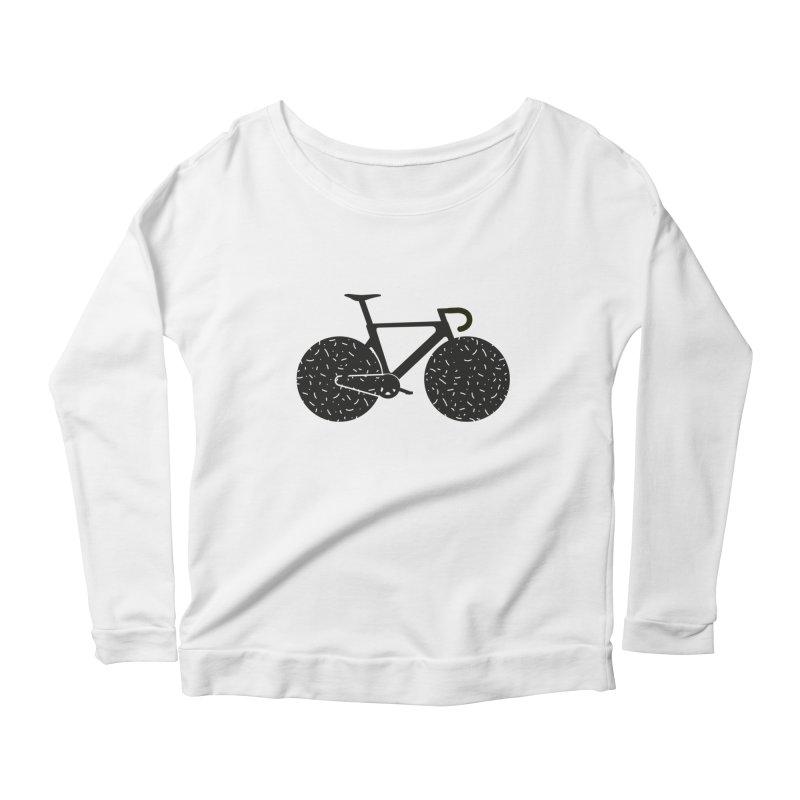 Track Bike Women's Scoop Neck Longsleeve T-Shirt by Rickard Arvius