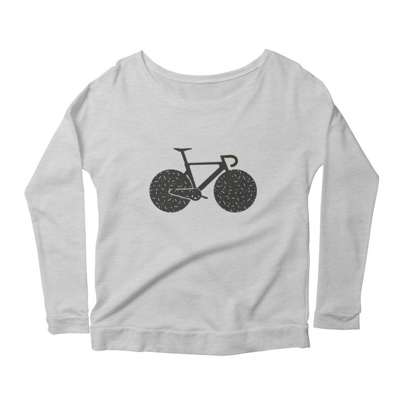 Track Bike Women's Longsleeve Scoopneck  by Rickard Arvius