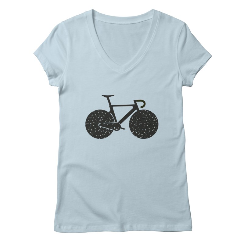 Track Bike Women's Regular V-Neck by Rickard Arvius