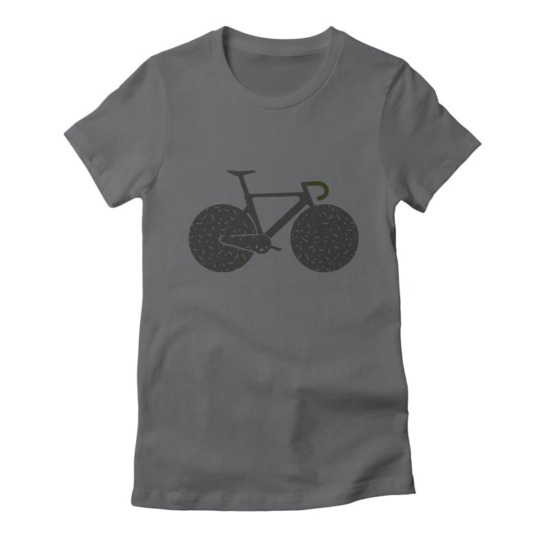 Track Bike Women's Fitted T-Shirt by Rickard Arvius