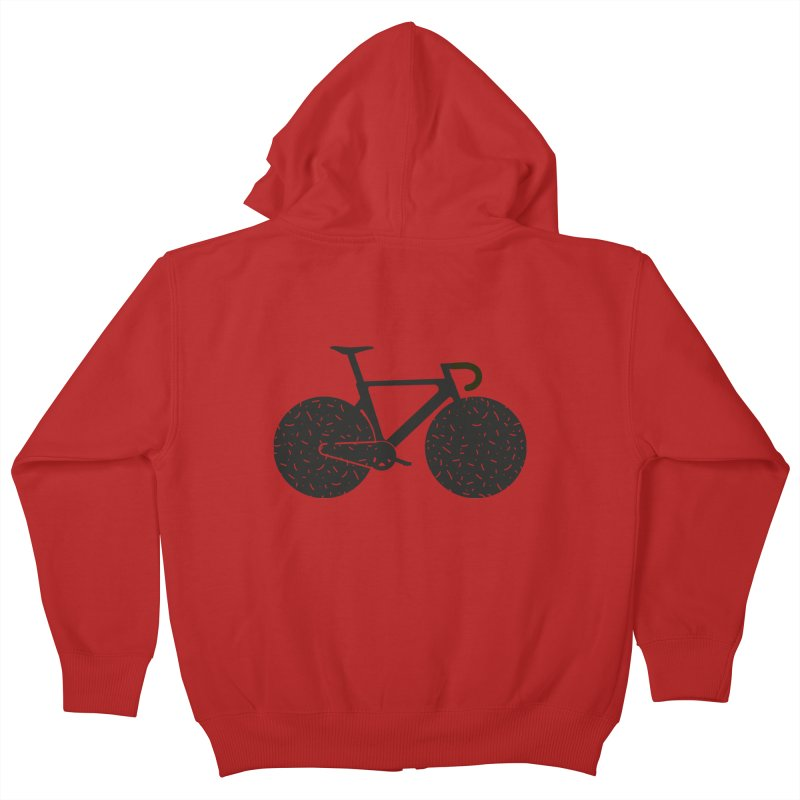 Track Bike Kids Zip-Up Hoody by Rickard Arvius