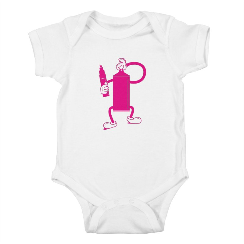 Mr Spray Can Kids Baby Bodysuit by Rickard Arvius