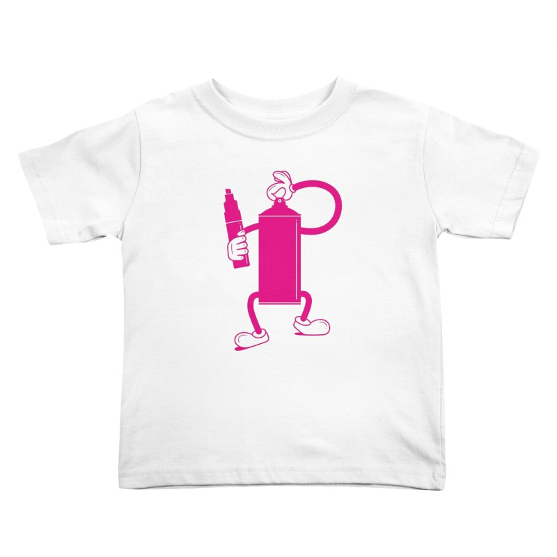 Mr Spray Can Kids Toddler T-Shirt by Rickard Arvius