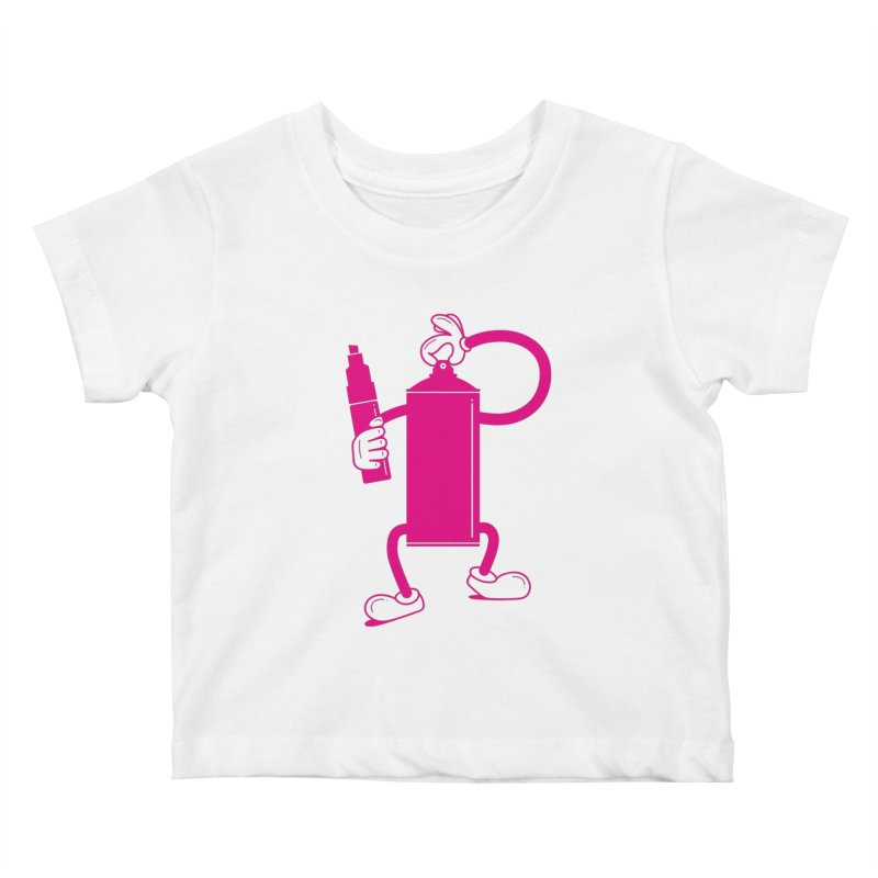 Mr Spray Can Kids Baby T-Shirt by Rickard Arvius