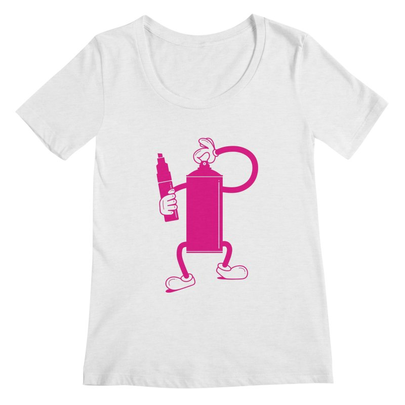 Mr Spray Can Women's Scoopneck by Rickard Arvius
