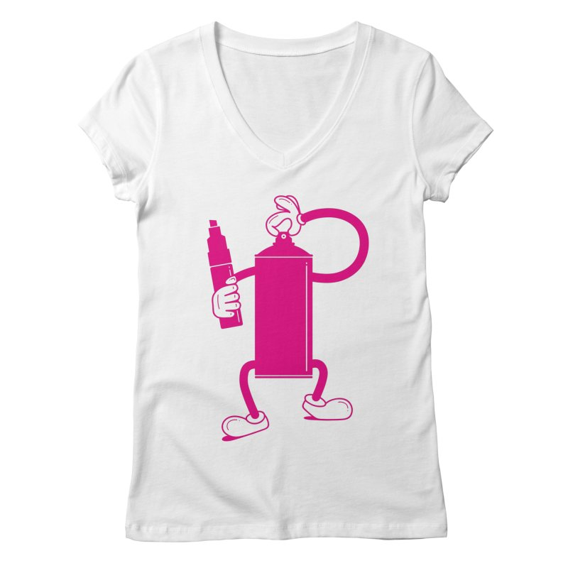 Mr Spray Can Women's V-Neck by Rickard Arvius