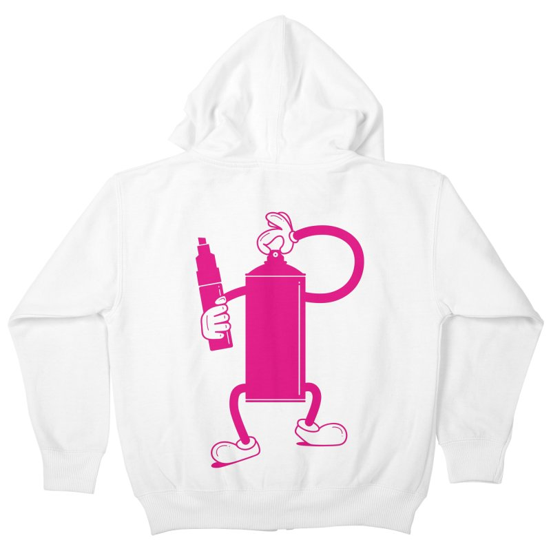 Mr Spray Can Kids Zip-Up Hoody by Rickard Arvius