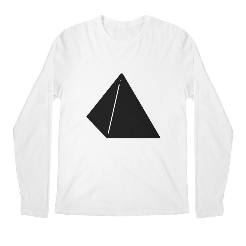 Shapes Pyramid Men's Regular Longsleeve T-Shirt by Rickard Arvius
