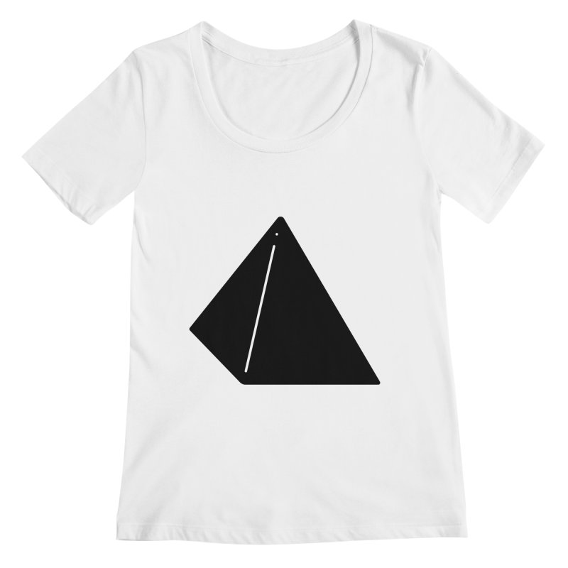Shapes Pyramid Women's Regular Scoop Neck by Rickard Arvius