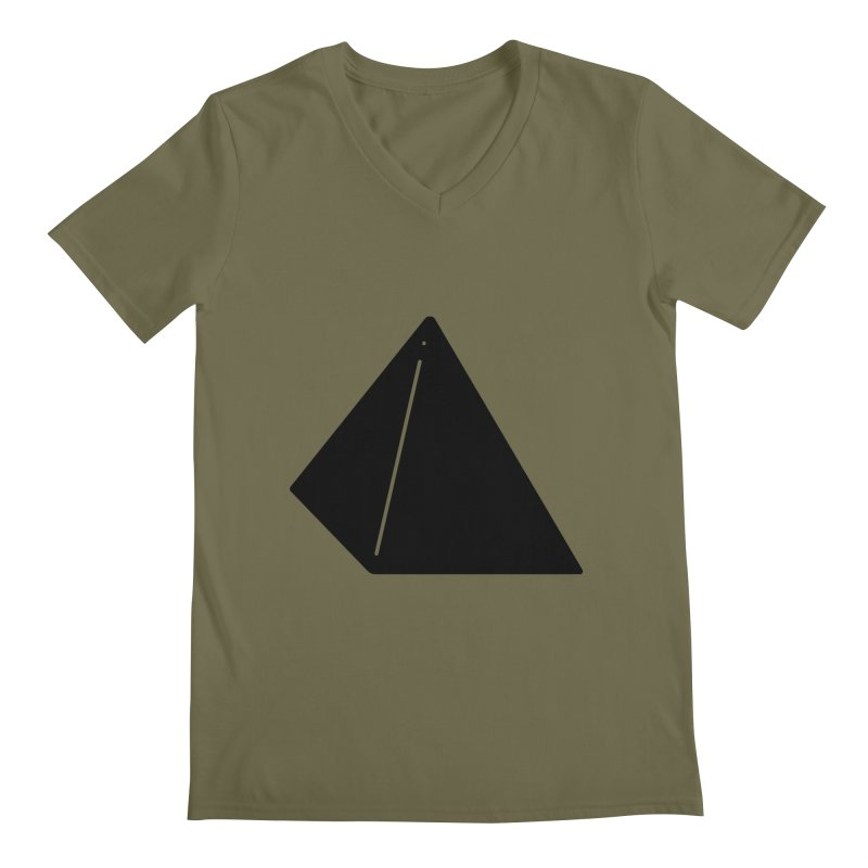 Shapes Pyramid Men's Regular V-Neck by Rickard Arvius