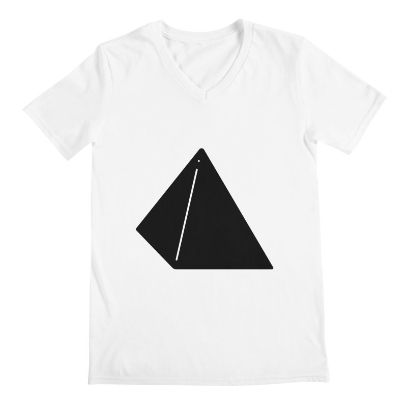 Shapes Pyramid Men's V-Neck by Rickard Arvius