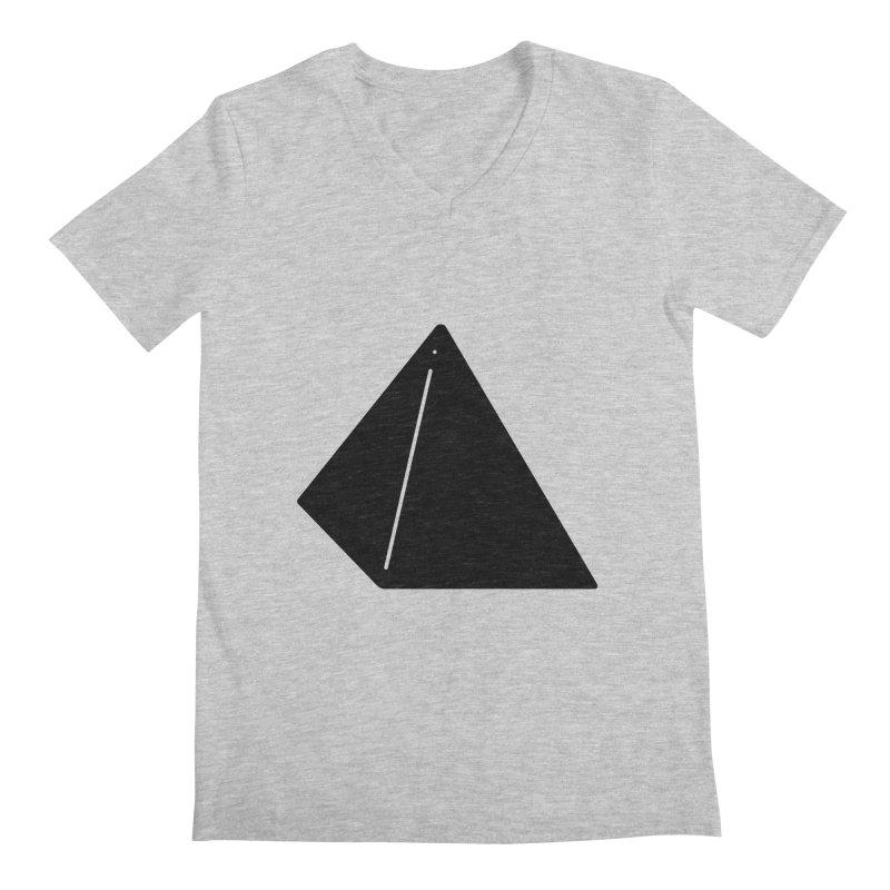Shapes Pyramid Men's Regular V-Neck by Rickard Arvius