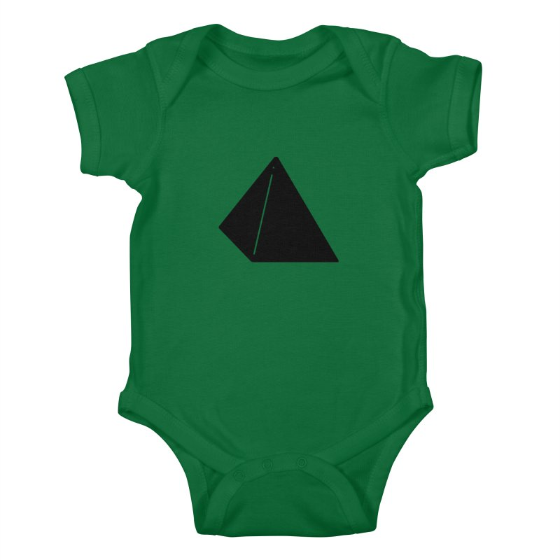 Shapes Pyramid Kids Baby Bodysuit by Rickard Arvius