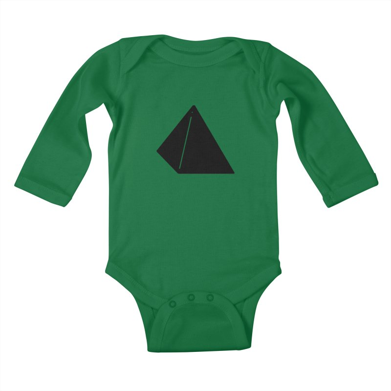 Shapes Pyramid Kids Baby Longsleeve Bodysuit by Rickard Arvius