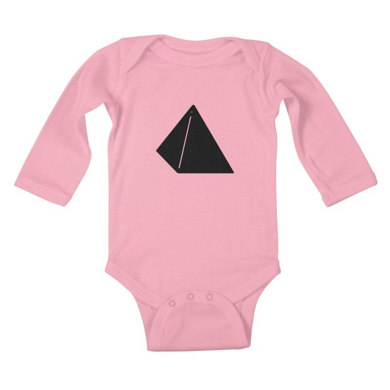 Shapes Pyramid Kids Baby Longsleeve Bodysuit by Rickard Arvius