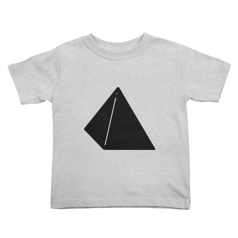 Shapes Pyramid Kids Toddler T-Shirt by Rickard Arvius
