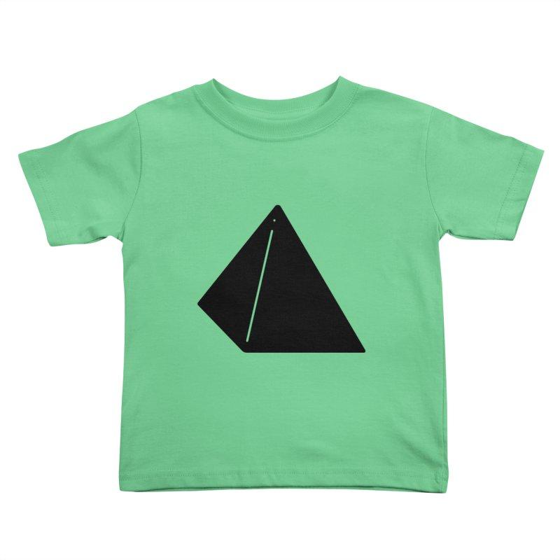 Shapes Pyramid Kids Toddler T-Shirt by Rickard Arvius