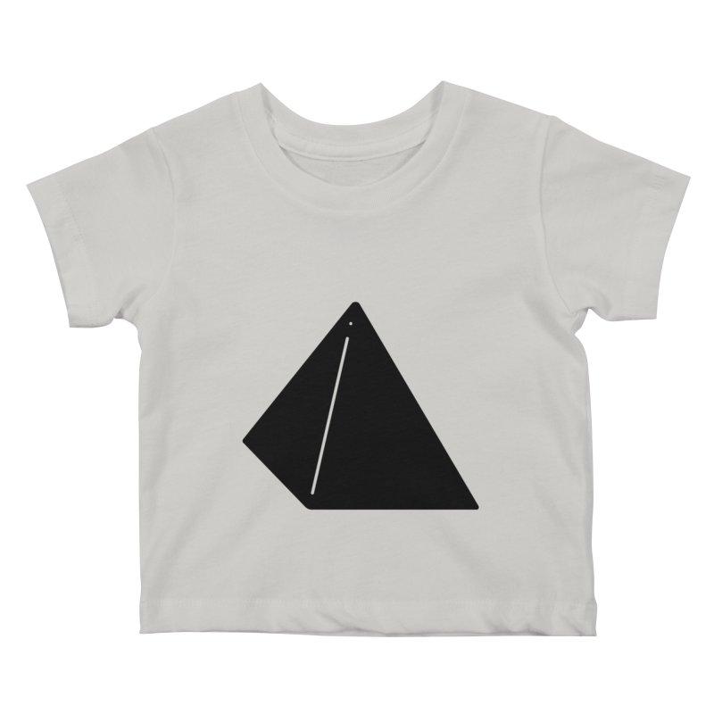 Shapes Pyramid Kids Baby T-Shirt by Rickard Arvius