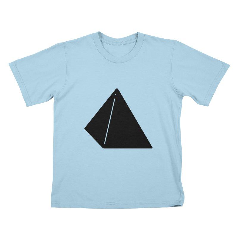 Shapes Pyramid Kids T-Shirt by Rickard Arvius