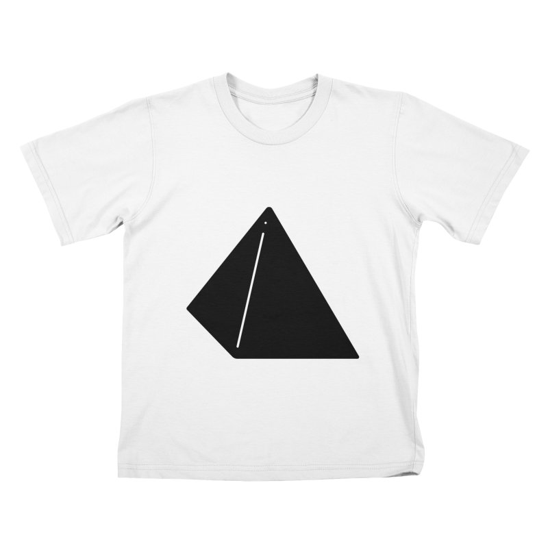 Shapes Pyramid Kids T-Shirt by Rickard Arvius