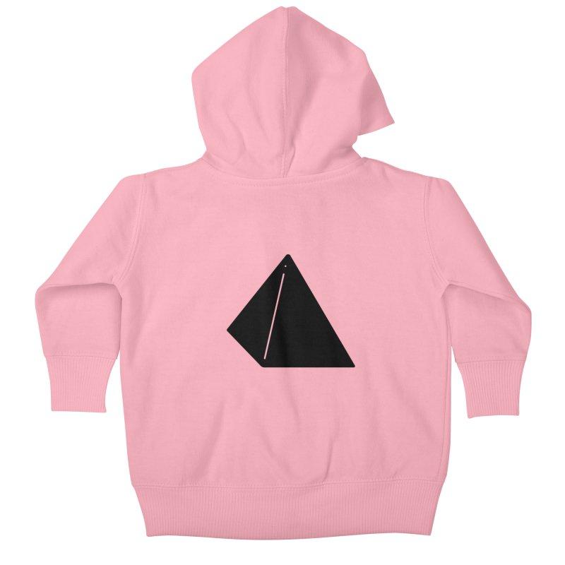 Shapes Pyramid Kids Baby Zip-Up Hoody by Rickard Arvius